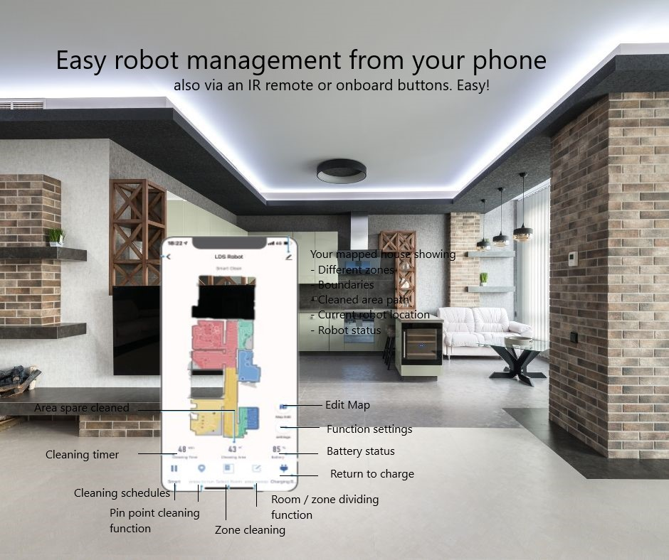 Liectroux management from your phone